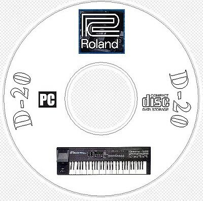 Roland D-20 Sound Library Patches MIDI Software Editors & Manual CD .. D20 D 20