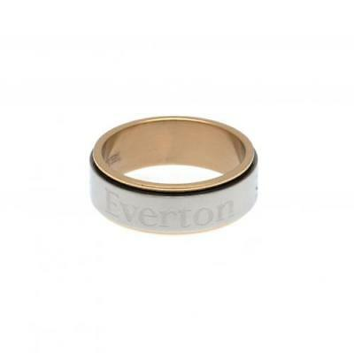Official Football Everton F.C. Bi Colour Spinner Ring Small Xmas Gift
