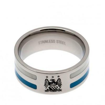 Official Football Manchester City F.C. Colour Stripe Ring Small Xmas Gift