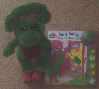 Baby Bop Soft Toy (from Barney) + Ding Dong Where's Barney Noisy Book