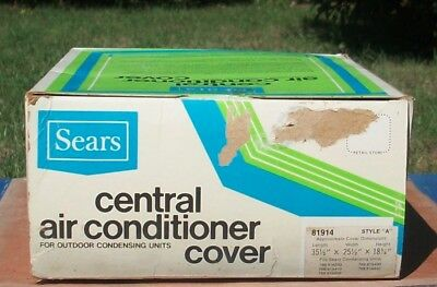 Sears Central Air Conditioner Cover 81914 Style A 35-1/2 x 25-1/2 x 18-1/4~NOS