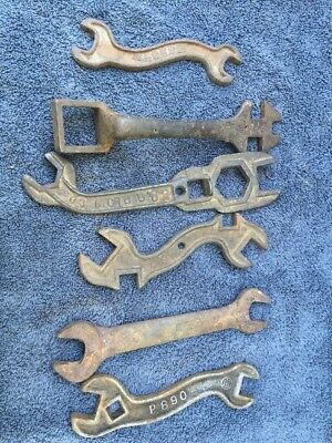 Lot 6 Vintage Wagon Tractor Wrenches International Harvester Cabin Western Decor