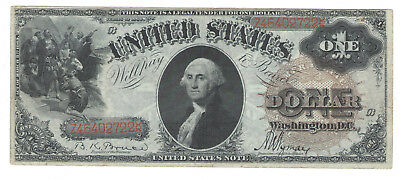 1880 $1 One Dollar Bill United States Large Flower Seal Note