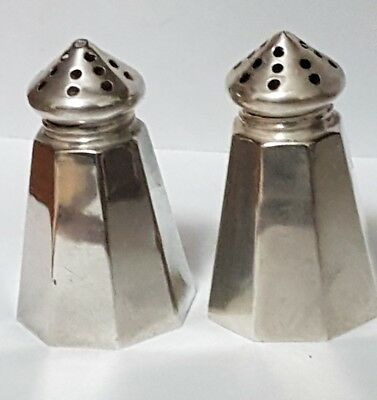 Small Sterling Silver Salt and Pepper Shakers - Solid .925 Silver