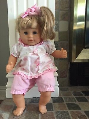 Corolle Doll Blonde Pink Baby S-10 J-12 2000 16""