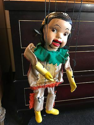 Peter Puppet Indian Princess Marionette Howdy Doody