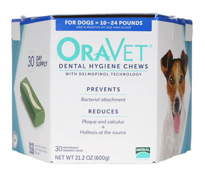 Oravet Dental Hygiene Chews Small Dogs 10-24 lbs, 30 Chews BLUE