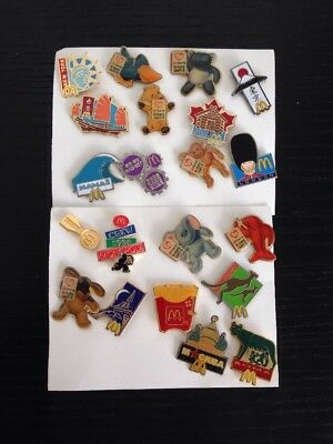 McDonald's Collectable  Employee Badges Pins / McDonald's Pins  / Bulk 21 Pins