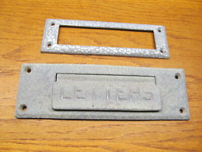 "Old Aluminum Mail Slot Cover..."" Letters """
