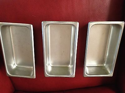 stainless steel pans, loaf style, set of 3