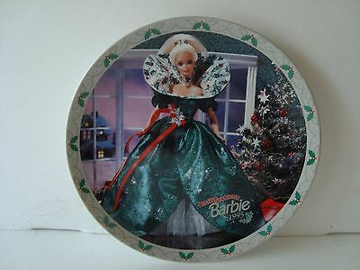 ENESCO Barbie Collector Plate. HAPPY HOLIDAYS BARBIE 1995! With C.O.A Beautiful!