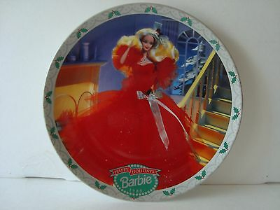ENESCO Barbie Collector Plate. HAPPY HOLIDAYS BARBIE 1988! With C.O.A Beautiful!