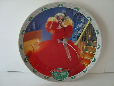 ENESCO Barbie Collector Plate.HAPPY HOLIDAYS BARBIE 1988! With C.O.A Beautiful!
