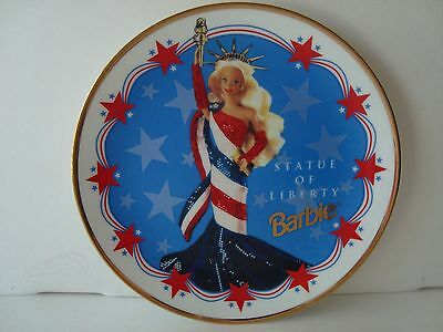 ENESCO Barbie Collector Plate.STATUE OF LIBERTY BARBIE With C.O.A Beautiful!