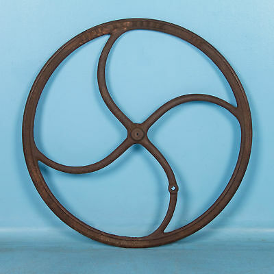 Antique 19th Century Industrial Cast Iron Wheel