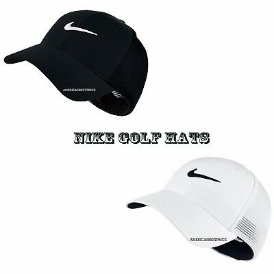 37fced57934 NIKE NEW MEN S Golf Legacy 91 Tour Mesh Cap hat Dri-Fit Nwt L xl Black    White -  22.95