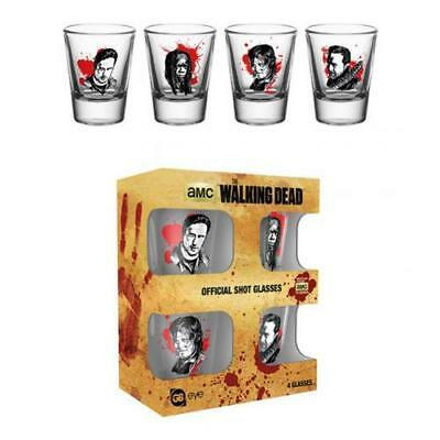 Official The Walking Dead 4pk Shot Glass Set CH Xmas Gift