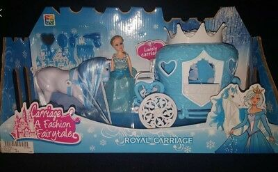 Ice Princess  Fashion Fairytale Doll with Horse and Royal Carriage