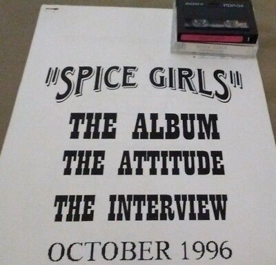 Spice Girls Interview (From October 1996 on DAT with Cue Sheet)