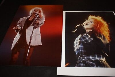 "Cyndi Lauper Original Unpublished Photos x2 8"" x 12"" Pittsburgh 1985 Print"