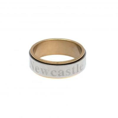 Official Football Newcastle United F.C. Bi Colour Spinner Ring Large Xmas Gift