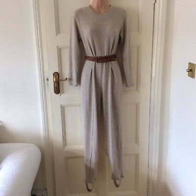 Vintage J' Aime Beaucoup Made In Italy Unique Wool Blend Knitted Jumpsuit M