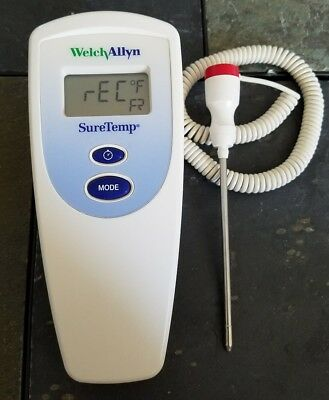 Welch Allyn SureTemp Model 678 Digital Thermometer with Probe Tested Working