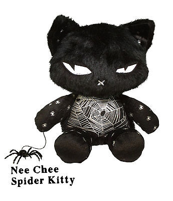 Emily the Strange Nee Chee Spider Kitty Plush - L'il Strangers Collection - NEW
