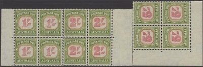 AUSTRALIA QEII 1953-59 Dues Set Scott J81-83 SGD129-131 NH+LH Blocks cv £96