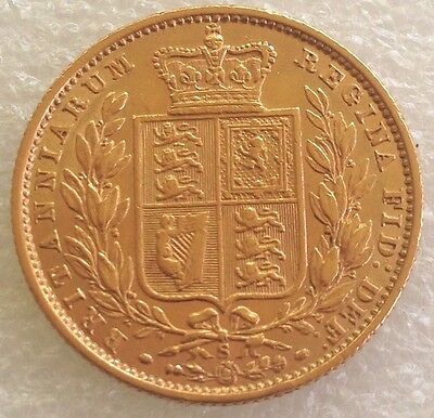 1871 Victoria full shield sovereign syd  mint # 802