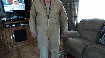 CARHARTT Coveralls 54R Men's Coveralls Insulated Made in USA! FREE Ship REDUCED$