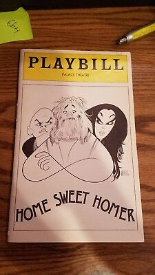 Yul Brynner Home Sweet Homer 1976 (Opening Night) Playbill