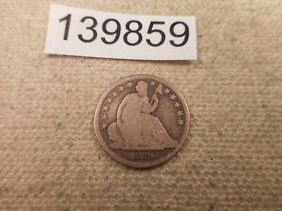 1839 O Seated Liberty Dime Collector Album Grade Coin - # 139859 With Stars Nice