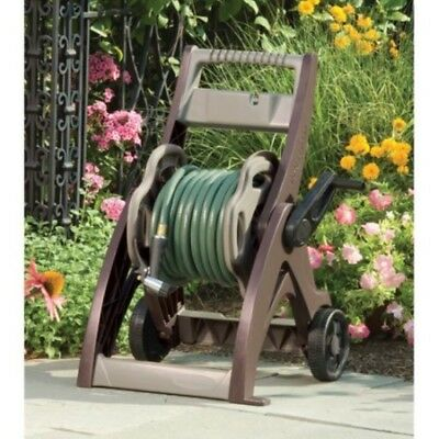 "Suncast WJS175 Taupe Water Hose Reel Cart 175ft Capacity with 7"" Wheels"