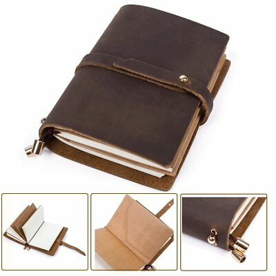 Retro Leather Journal Travel Notepad Diary Notebook Handmade Personalized Gift