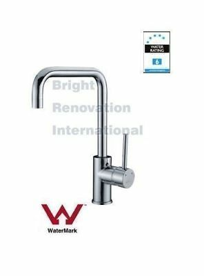 New WELS  Round Cylinder Arch Bathroom Basin Kitchen Sink Flick Mixer Tap Faucet
