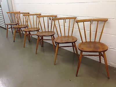 Early Ercol Windsor Bow Top Side Chair (x1) Model 333