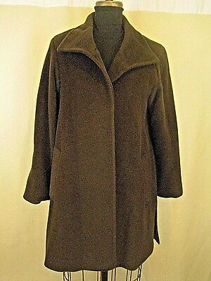 eab6ec00085 NWT  1K CINZIA Rocca Icons Red Cashmere Blend Funnel-Neck Swing Coat ...