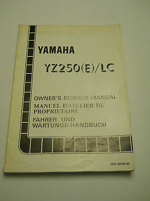 Yamaha Yz250 E / Lc   Official Owners  Service  Manual