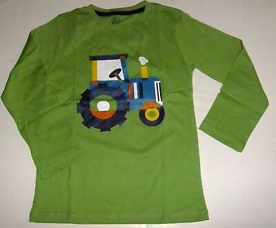Boy's Size 5T Long Sleeve Shirt Tractor Farm Green NWT Country