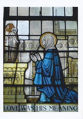 Julian Of Norwich Love Was His Meaning Church Stained Glass Large Greeting Card