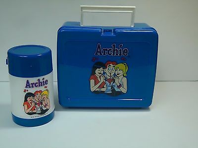 Archie Comics Lunchbox-With Thermos-Riverdale-Betty-Veronica-1990-Plastic-Blue