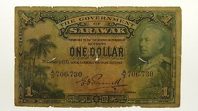 Sarawak 1929 One Dollar Banknote in Good Condition