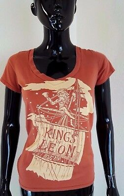 Kings if Leon ONLY BY THE NIGHT Orange Shirt by Barking Irons Sz Small