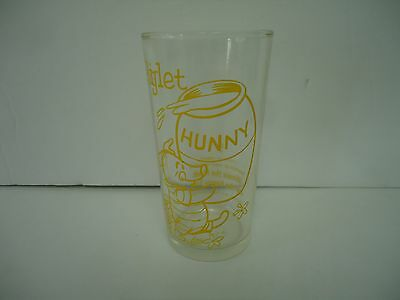 Vintage Winnie The Pooh And The Honey Tree Glass-Piglet-1965-Rare-Walt Disney#5