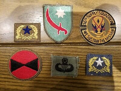 Wwii Military Patches Lot Of 6 (Lot 7)