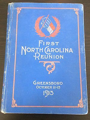 1903 First North Carolina Reunion - Greensboro - George Bradshaw FIRST EDITION