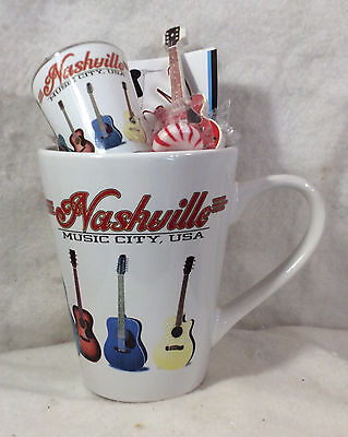 Nashville Mug As A Gift: Shotglass Magnet 2 Post Cards Will Be Wrapped In Cello