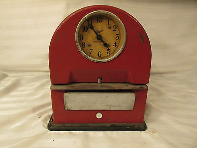 Vintage Simplex Time Clock Recorder  Parts Repair Display