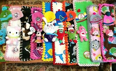 1 New Baby Blanket #BB01 Double Sided Fleece Blankets with plush #BB010